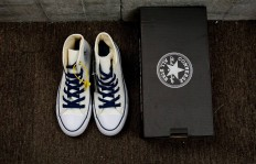 真标裁片CONVERSE TOMORROWLAND ALL STAR 40TH HI帆布鞋 converse海军复古蓝米白货号:1CL602