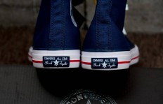 真标裁片CONVERSE TOMORROWLAND ALL STAR 40TH HI帆布鞋 converse海军复古蓝货号:1CL601