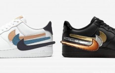 "Nike Air Force 1 Low Removable Swoosh Pack更豪华的""换钩器"""