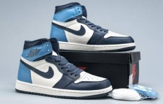 Air Jordan 1 Retro High OG 黑曜石货号:555088-140