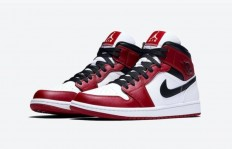 "Air Jordan 1 Mid ""Chicago"" 货号:554724-173"